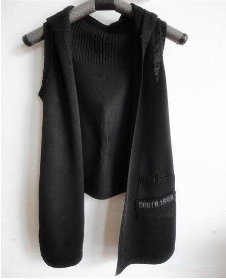 2015 spring autumn new women clothing casual fashion Hooded Knitting waistcoat coat