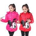 Crianças de moda outerwear 2016 Outono Inverno casacos Com Capuz Jaqueta Crianças Casaco de inverno Meninas das crianças roupas dos desenhos animados