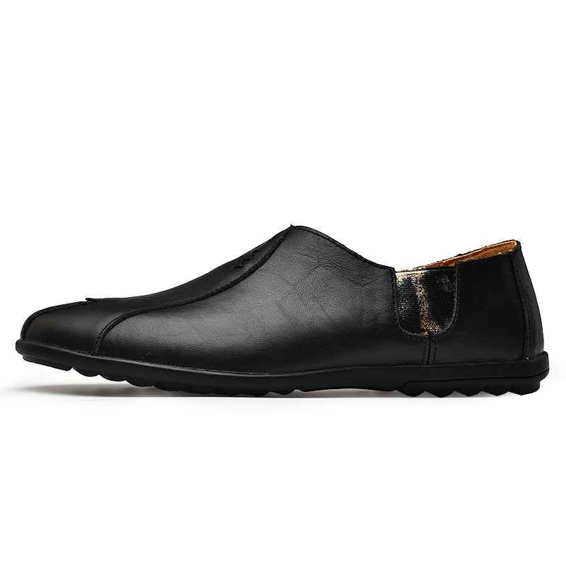 Leather Men Shoes Luxury Brand 2019 Italian Casual Mens Loafers Moccasins Breathable Slip on Black Driving Leather Men Shoes Luxury Brand 2019 Italian Casual Mens Loafers Moccasins Breathable Slip on Black Driving Shoes Plus Size 38-47