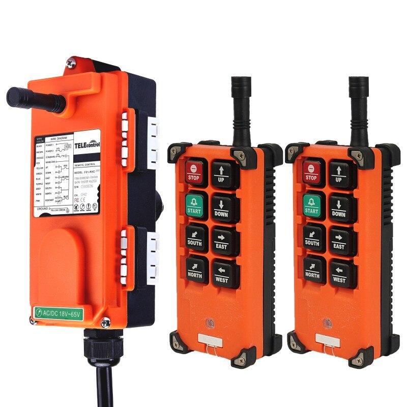 Télécommande F21-E1Bremote distance de contrôle universelle industrielle belle commande sans fil pour grue AC/DC 2 transmetteur et 1 récepteur - 2