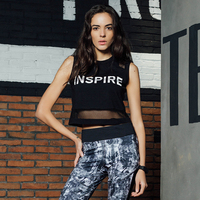 Summer Sexy Mesh Patchwork Women Tank Tops Female Dry Quick Loose Fitness Vest Singlet For Exercise