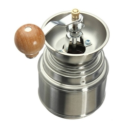 hot sale Stainless Steel Manual Spice Bean Coffee Grinder Burr Grinder Mill with Ceramic Core