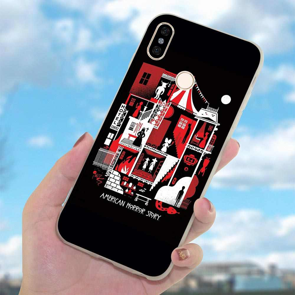 TV American Horror Story 6 Pro Caso Tampa Do Telefone para Red mi mi mi A1 A2 Lite 8 9 SE mi x 7 2S mi Vermelho Nota 3 4 5 7 Pro 4A 5A Prime