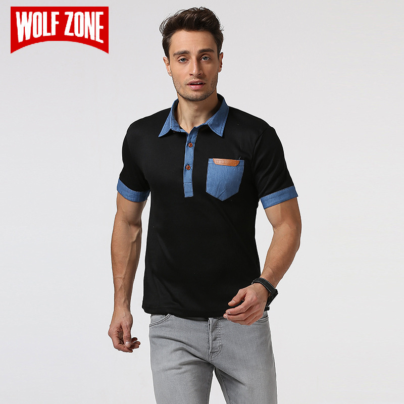 WOLF ZONE 2018 Summer   POLO   Shirt Men Cotton Fashion Breathable Short-sleeve Business Casual   Polo   Shirts Brand Clothing