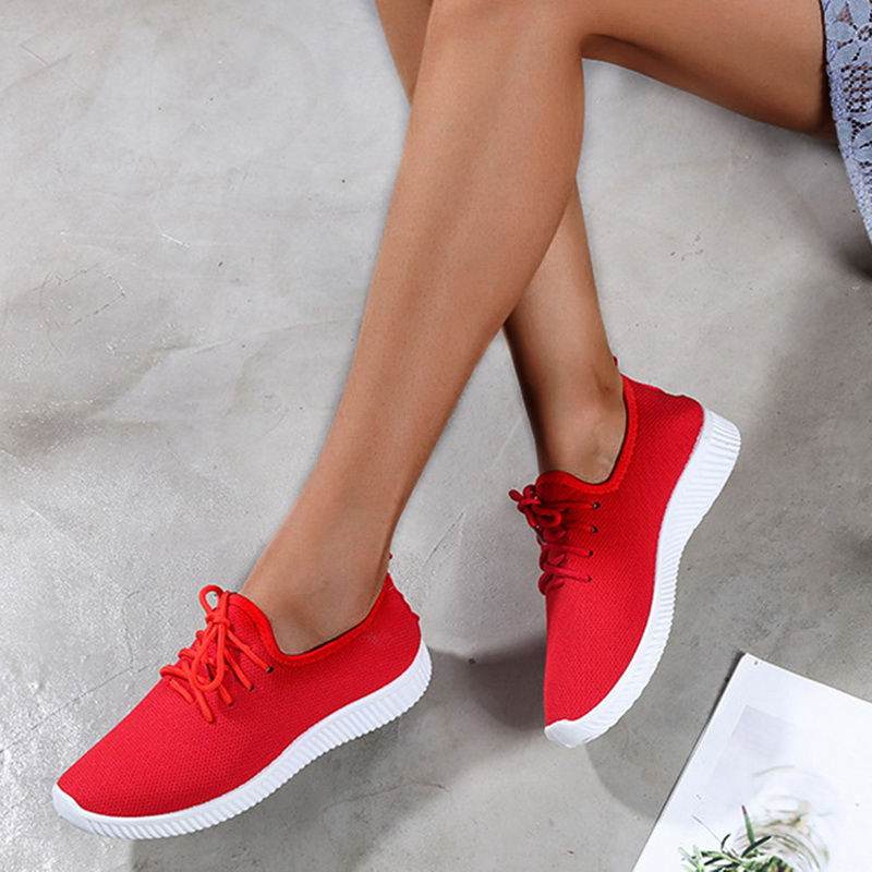 Oeak Women Sneakers Outdoor Running Shoes 2019 Sports Shoes Mesh Light Bottom Casual Shoes Drop shipping(China)