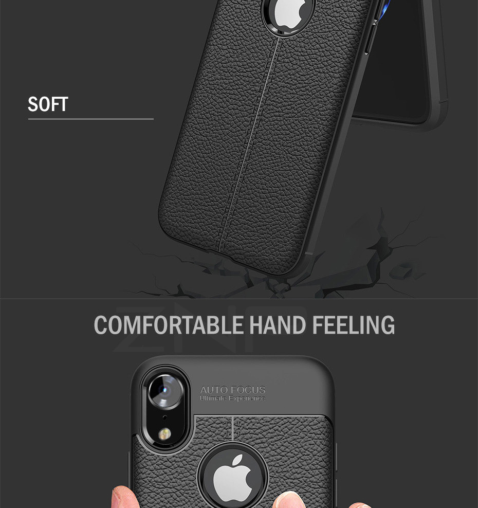HTB1c16CXcvrK1Rjy0Feq6ATmVXaD - ZNP Luxury Shockproof Matte Cover For iPhone 6 7 8 Plus 6s Case Leather Carbon Fiber Leather For iPhone X XR XS Max Phone Case