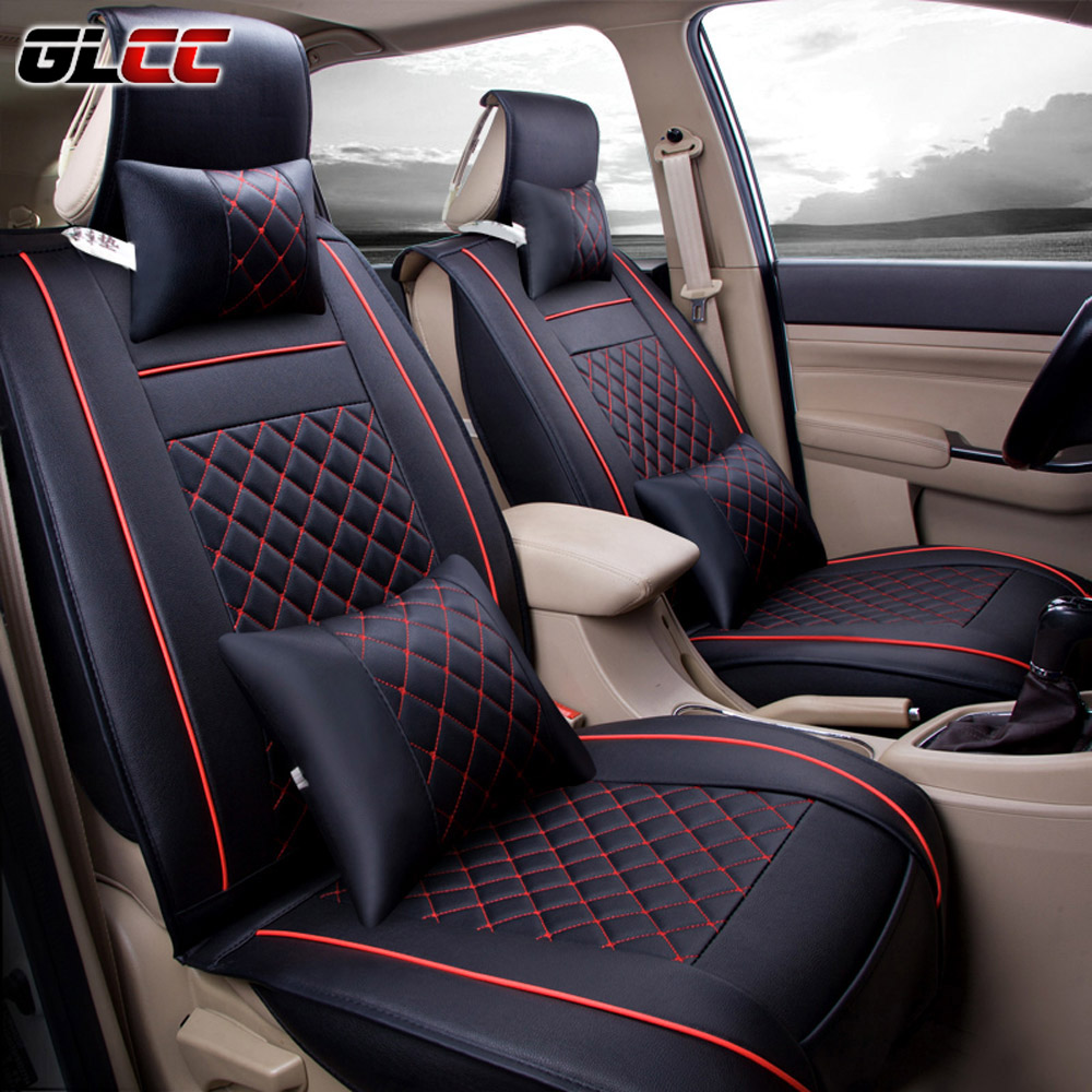 4 couleurs pu si ge de voiture en cuir couvre universal fit plein entour automobiles housse de. Black Bedroom Furniture Sets. Home Design Ideas