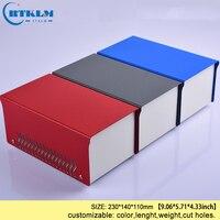 DIY caixa de Ferro caixa de junção elétrica gabinete amplificador diy para instrumento de ferro caso caixa de projeto eletrônico 230*140*110 milímetros