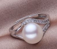 cospay s Hot selling shipping********AAA+11 12mm genuine natural south sea white pearl ring rings for women silver jewelry