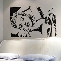 Free Shipping Wholesale Wall stickers Home Decor 560mm*840mm PVC Vinyl Removable Art Mural Marilyn Monroe M 60