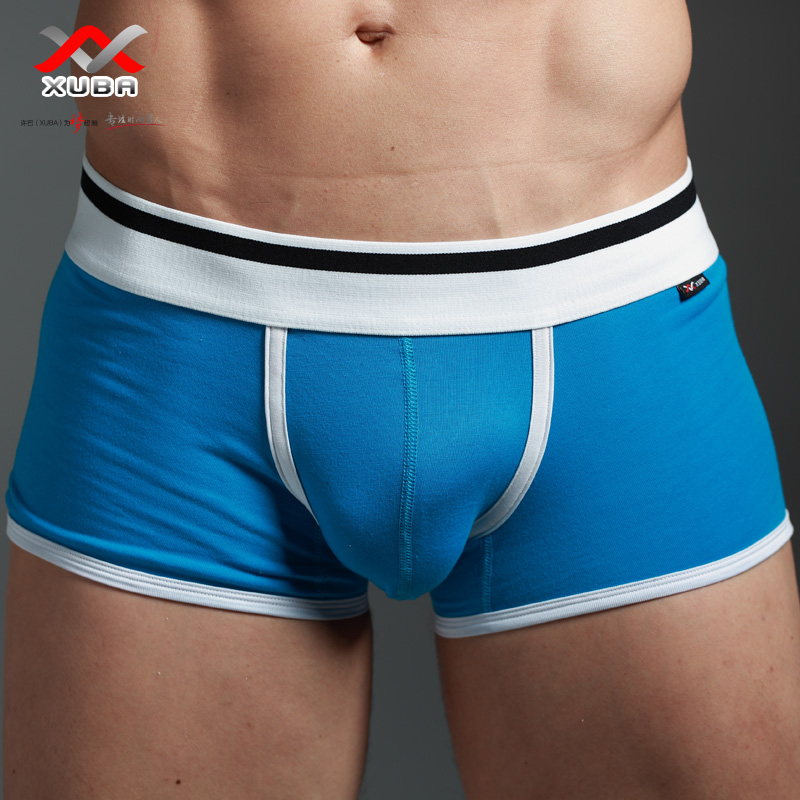 Men 39 S Boxers Underwear 100 Cotton Small Boxers Sexy Low Waist Four Corners Panties Male U Solid