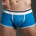 men's boxers underwear  100% cotton small boxers sexy low-waist four corners panties male u solid color breathable belts