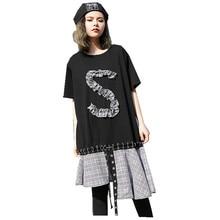 Patchwork Dress Female Ruched O Neck Short Sleeve Cotton Plaid Split Midi Women's Dresses 2018 Harajuku Spring Clothing