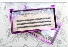 Natural Individual Lashes Extension C0.1 Handmade False Eyelashes Fish tail Curl Cluster Lash Eyelashes Eye Makeup Tool