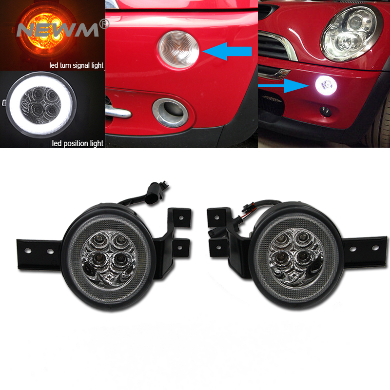 Us 113 39 10 Off Smoked Lens Full Led Halo Turn Signal Light Embly For Mini Cooper R50 R52 R53 In Car From Automobiles