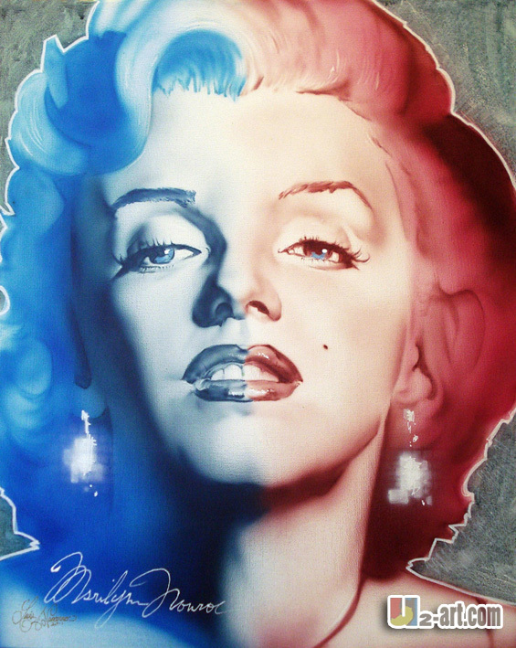 Modern woman canvas prints hang in the wall elegangt Marlin Monroe picture reproduction of oil painting gorros de baño con flores