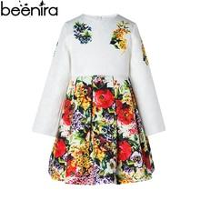 BEENIRA Spring Girls Dress Children Jacquard Long Sleeve Costume Kids Print Europe Style High Quality 2017