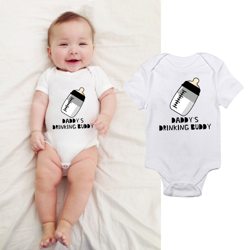 6e7e0c7ddf2 HY0224 Daddy s Drinking Buddy Baby Romper Cute Unisex Baby Funny Clothes-in  Bodysuits from Mother   Kids on Aliexpress.com