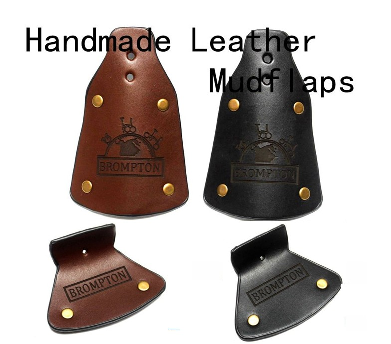 Aceoffix Handmade For Brompton Bike Leather Mudflaps