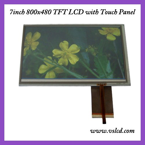 7inch TFT LCM DISPLAY 800*480 LCD module with touch panel