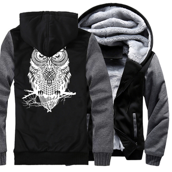 Winter Hoodie For Men Fleece Thick Sweatshirt