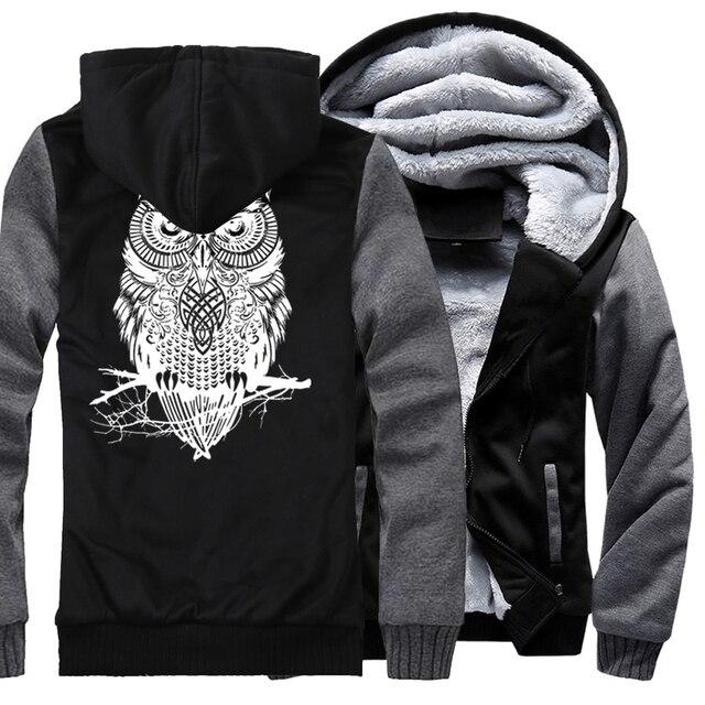 Winter Hoodie For Men Fleece Thick Sweatshirt