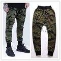 Kanye West Mens Corredores Novas Calças Skinny Camuflagem Hip Hop Jogger Calças Harem Carga Camo Militar