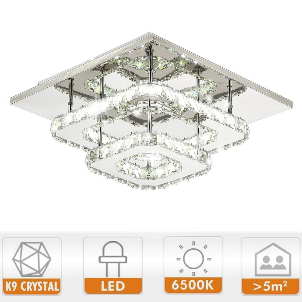 Image 5 - Modern Crystal LED ceiling light Fixture For Indoor Lamp lamparas de techo Surface Mounting Ceiling Lamp For Bedroom-in Ceiling Lights from Lights & Lighting