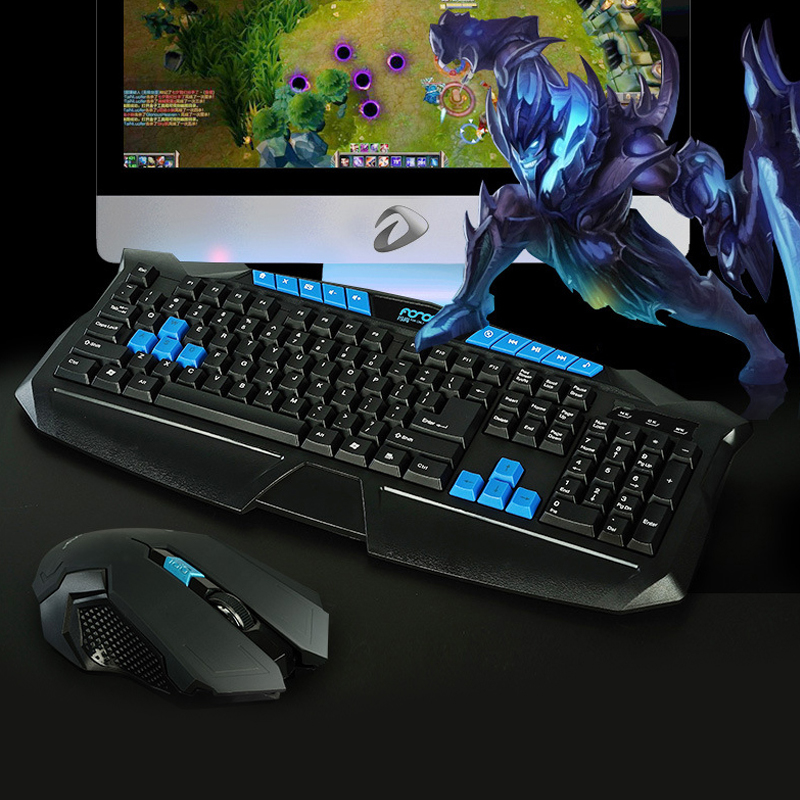 2.4Ghz Wireless Game Mouse and Keyboard Combo For Desktop pc Laptop Computer, High Sensitivity Gaming Mouse and Keyboard Set keyboard and mouse set 9160 wireless mouse and keyboard set gold keyboard mouse and keyboard set