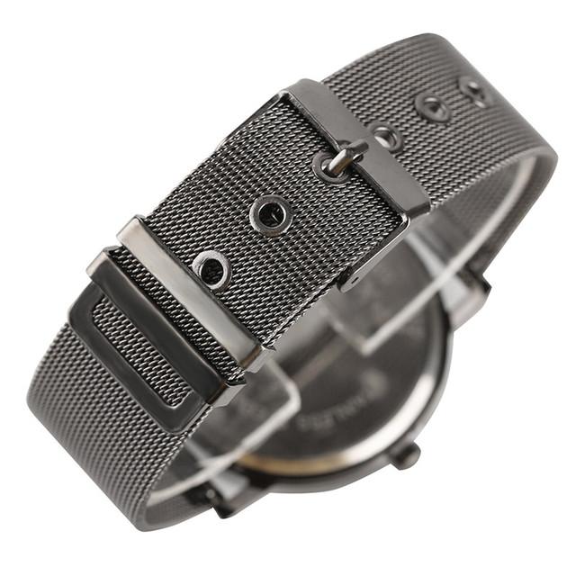 PAIDU Fashion Waterproof Quartz Women's Wrist watch Stainless Steel Mesh Strap Men Watches Sports Electronic clock Gifts