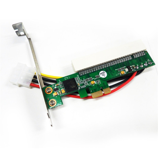 Aneew PCI to PCI-Express PCIE PCI-E X1 X 4 X8 X 16 Bus Riser Card Adapter Converter