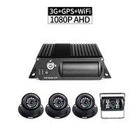 4CH 3G Netzwerk AHD 1080 P Sd karte Auto Mobile DVR Kits WIFI Realtime Recorder PC/Phone Remote Monitor Wiedergabe GPS Rekord g sensor-in Überwachungssystem aus Sicherheit und Schutz bei
