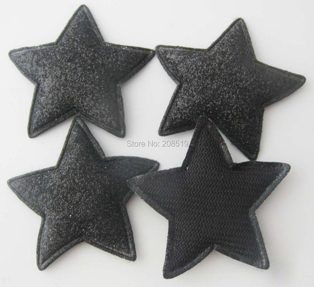 PANNGW микс 80 шт Блестящий фетровый тканевый аппликации около 45 мм звезда патч ручной работы декоративная заплатка для ювелирных изделий для волос