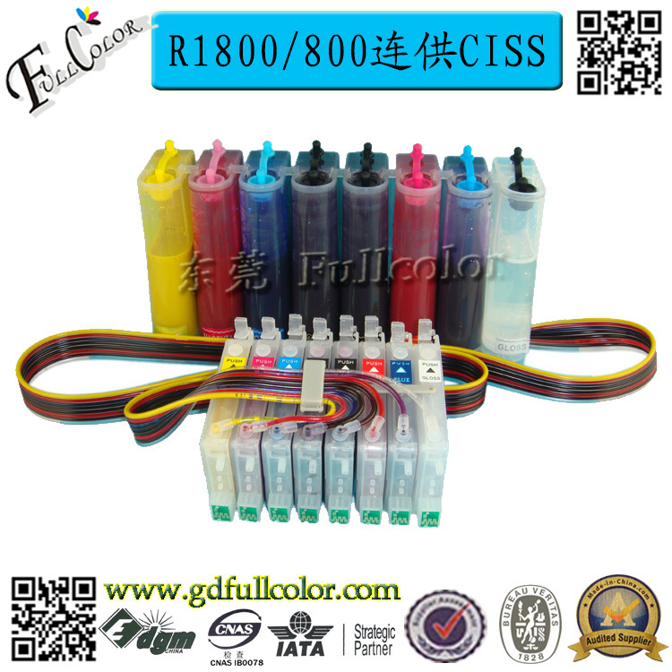 T0540 Bulk Ink System for Epson Stylus Photo R800 R1800 CISS Ink System with Reset Chip + 500ML Eco Solvent ink / Color