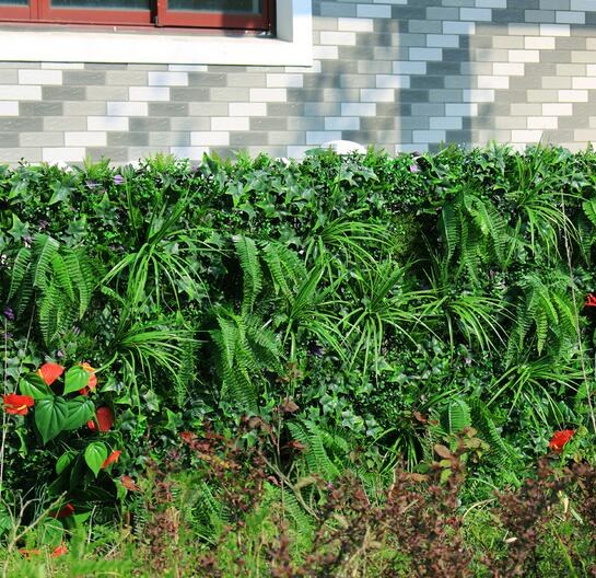 artificial outdoor shrubs privacy hedge plants 1x1m faux ivy privacy
