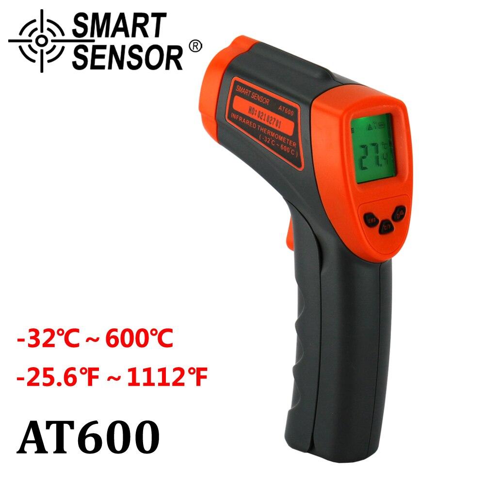 Termometro digitale A Infrarossi-32 ~ 600 C Senza Contatto del laser IR Temperatura Gun Pirometro misuratore di Acquario Emissività Regolabile