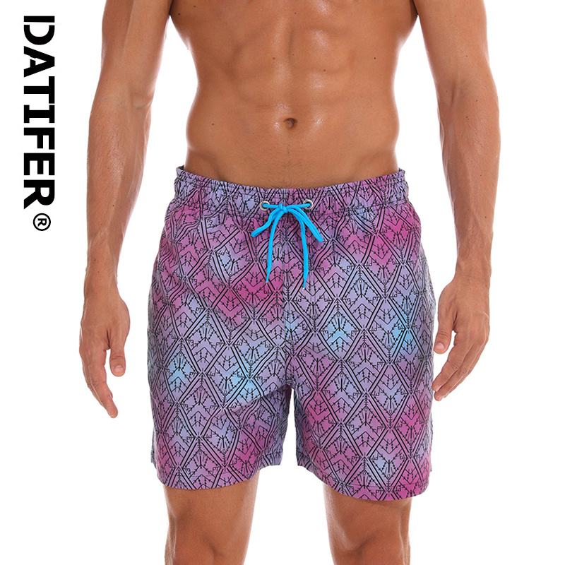 DATIFER Brand Men Swimwear   Board     Short   BeachWear Man Swimsuits 2019 ES4A Print Sport Plus Size XXXL Briefs Quick Dry Surf   Shorts