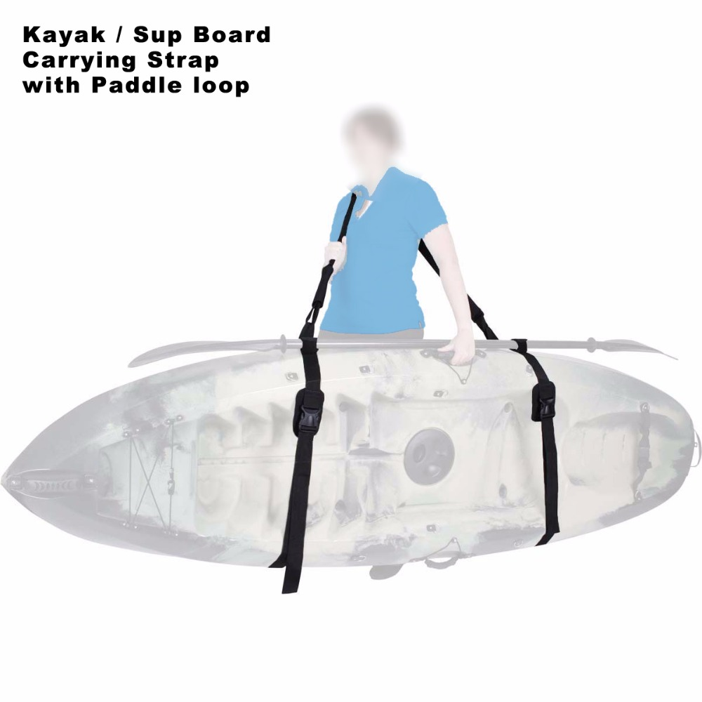 Heavy Duty Sup Paddle Board Kayak Carrying Shoulder Strap Sling bordo - Sport acquatici