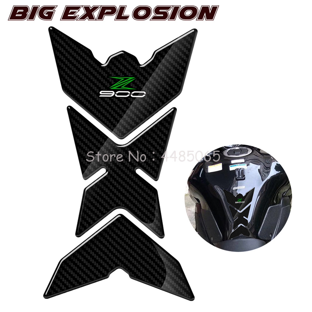 3D Motorcycle Stickers Gas Tank Pad Protector Decals Case For Kawasaki Z900 Z 900 From 2017