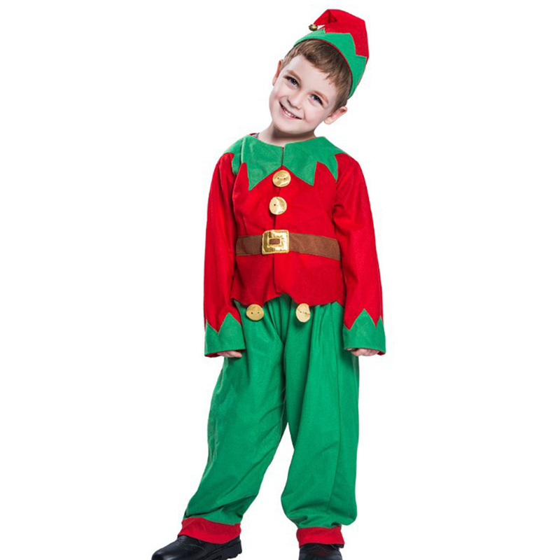 Women Men Boy Girl Christmas Costume With Hat Kids Adults Family Green Elf Cosplay Costumes Fancy Sets Family Matching Clothes