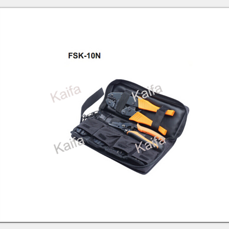 FSK-10N mini combination tools crimping plier 1.5-6 mm2 pneumatic crimping tools plier with 15 sets of dies