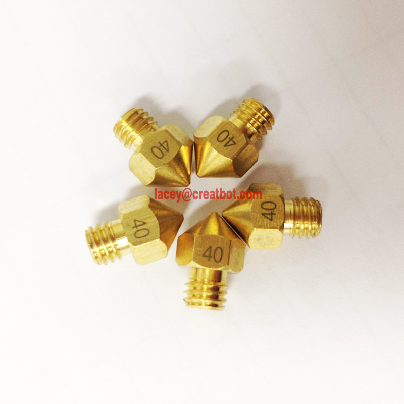 MK8 nozzle Original CreatBot Printer Parts hotend 5 pieces a lot 1.75mm filaments available