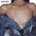 Sibybo Sexy Tank Tops Verano 2017 de Oro Rhinestone Sequin Tops Mujeres Bralette Playa Corto Bustier Crop Tops Recortada Top Con Tirantes