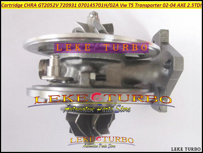 Free Ship Turbo Cartridge CHRA GT2052V 720931 720931-5004S 720931-0001 070145702A AX AV For VW T5 Transporter 02-04 AXE 2.5L TDI