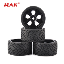4Pcs/Set 1:8 Scale Monster Trucks On Road Tires and Wheel Rims with 17mm Hex fit Racing Rally Car Accessories 4pc set 17mm hex 1 8 rc monster trucks on road wheels 139mm 70mm tires tyre for racing rally cars toy accessories parts
