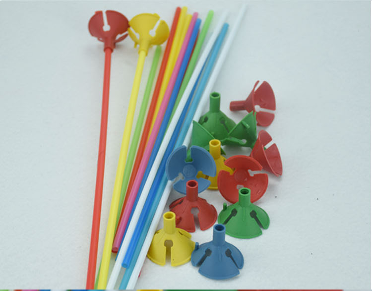 Inflatable 100sets lot Balloons Stick Rods Mulit color Holder Pvc Rod Support Balloon Accessories Funny Large Outdoor Party in Inflatable Bouncers from Toys Hobbies