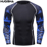 Mens Compression Shirts Skin Tight Thermal Under Long Sleeves Jerseys Rashguard Crossfit Exercise Workout Fitness Sportswear