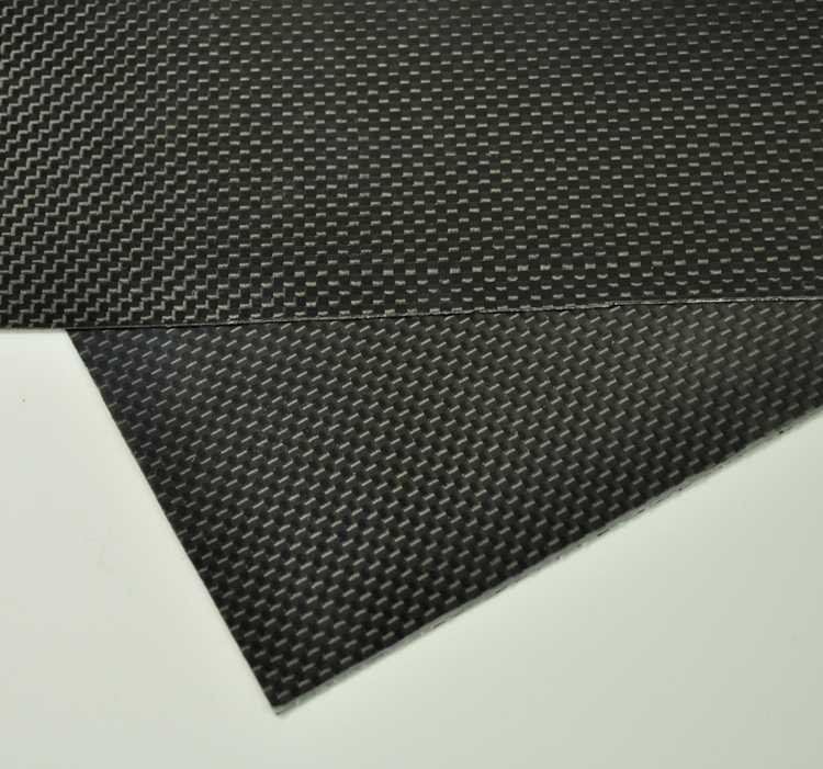 200mmX500mmX0.3mm 100/% Carbon Fiber plate panel sheet 3K plain Weave Glossy