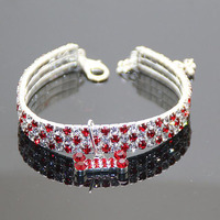 BP Bling Rhinestone Dog Collar Alloy Diamond Puppy Pet Cat Collar Size S/M/L Collars Leashes For Little Dogs Mascotas Accessorie