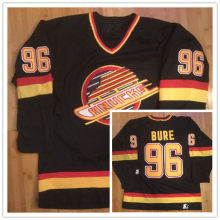 e1f89760882 #96 Pavel Bure Starter Vancouver Canucks Mens Hockey Jersey Embroidery  Stitched any number and name Jerseys